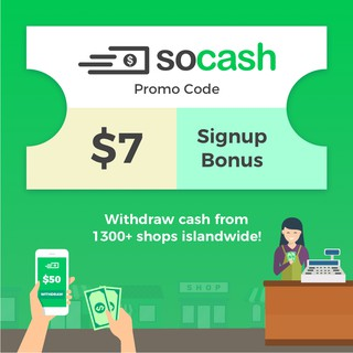 soCash - SGD 7 cash bonus for new users | Shopee Singapore