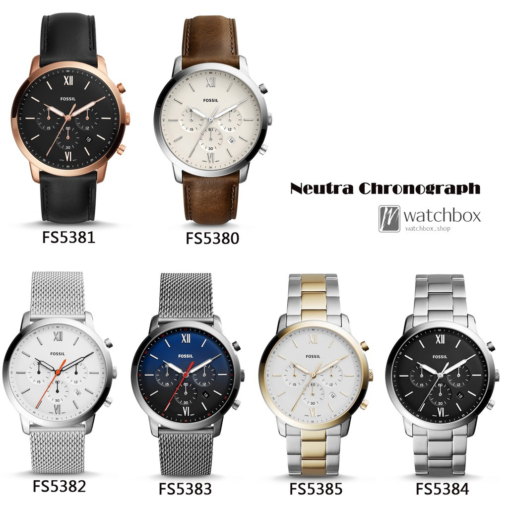 738c83f8048 Original Fossil Watch Neutra Chronograph Quartz Men Watch 44MM ...