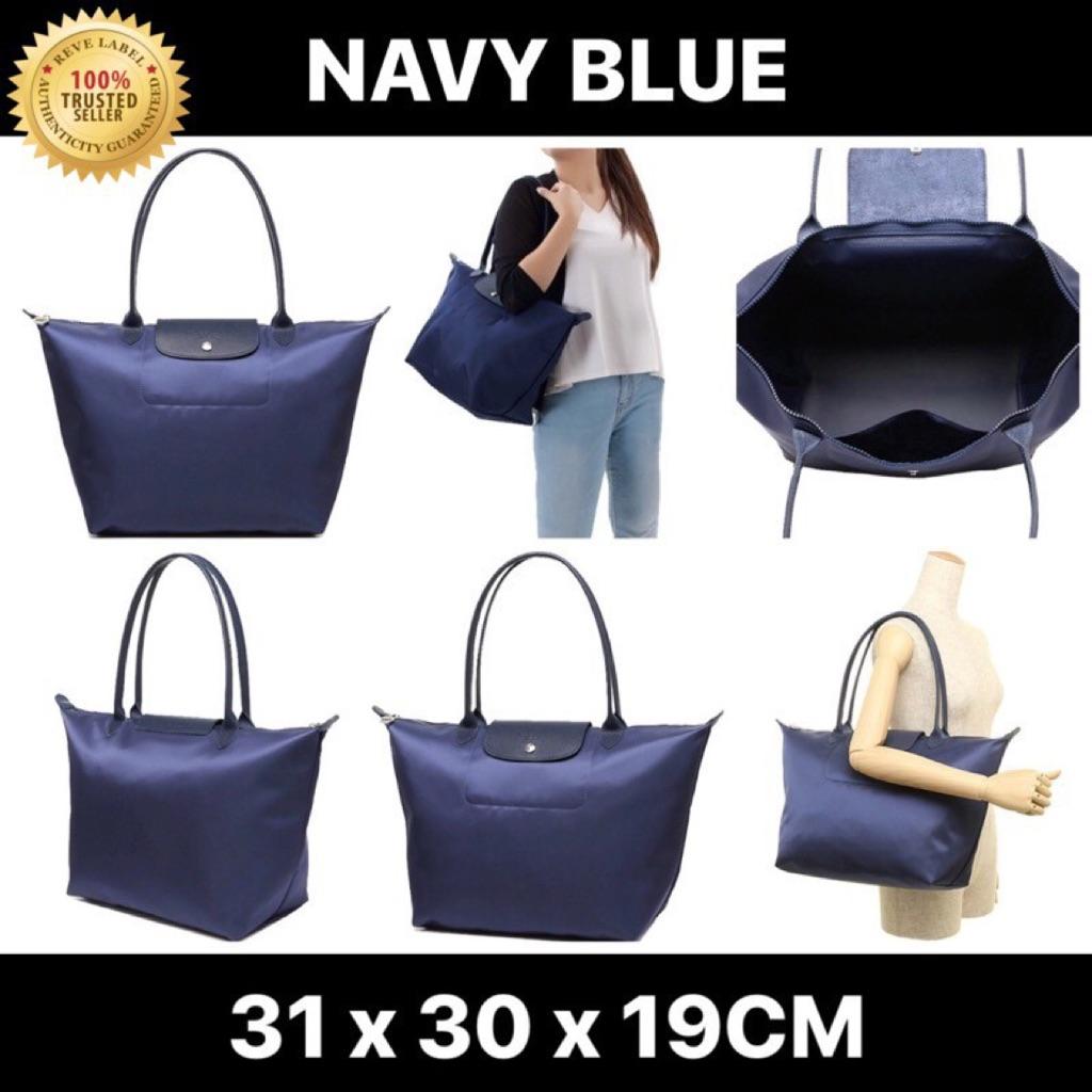 ca30040735d4 Longchamp Le Pliage Neo Long Handle Large Navy Blue 1899 578 556 ...