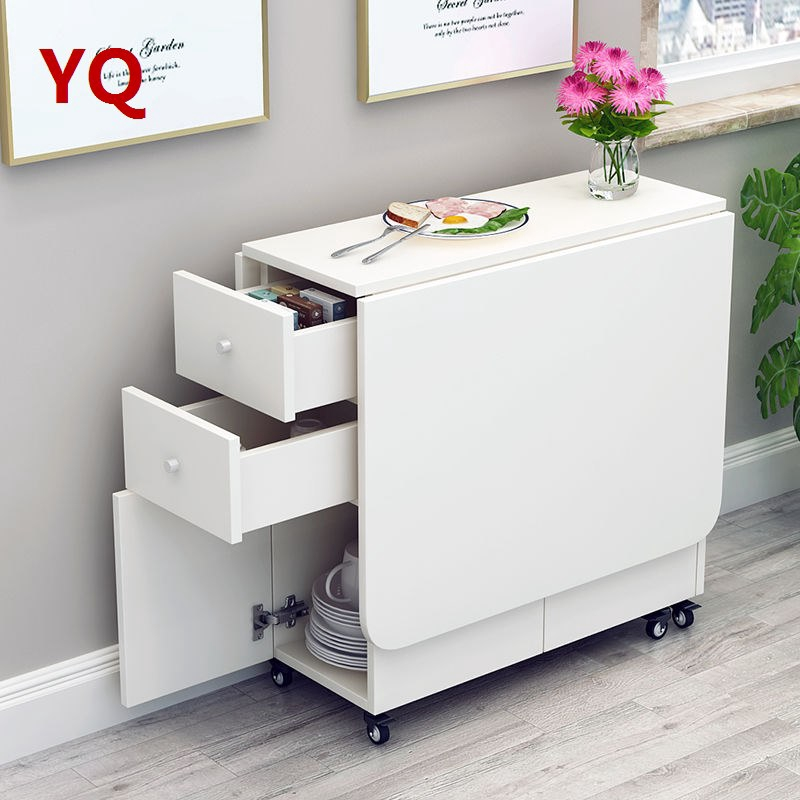 Simple Modern Small Apartment Telescopic Folding Dining Table Rectangular Mobile Kitchen Storage Cabinet Simple Dining T Shopee Singapore