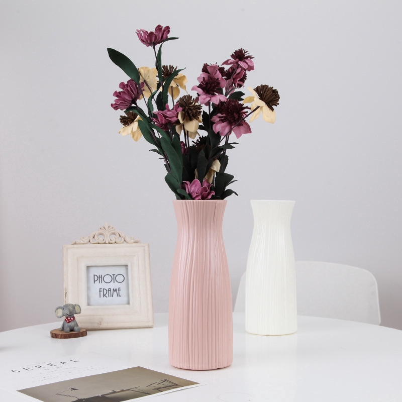 Vase Decoration Living Room Flower Arrangement Simple Home Household Large Plug Lily Rich Bamboo Water Culture Dried Flower Plastic Vase Shopee Singapore