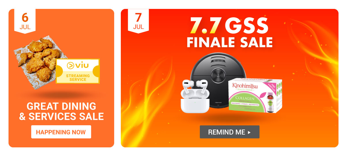 6.6 - 7.7 Great Shopee Sale - Great Dining & Services Sale