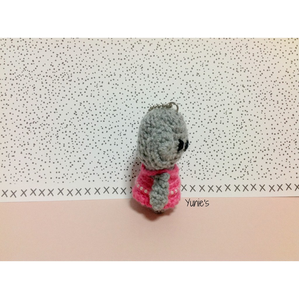 Crochet fox bag charm pattern | Amiguroom Toys | 1024x1024