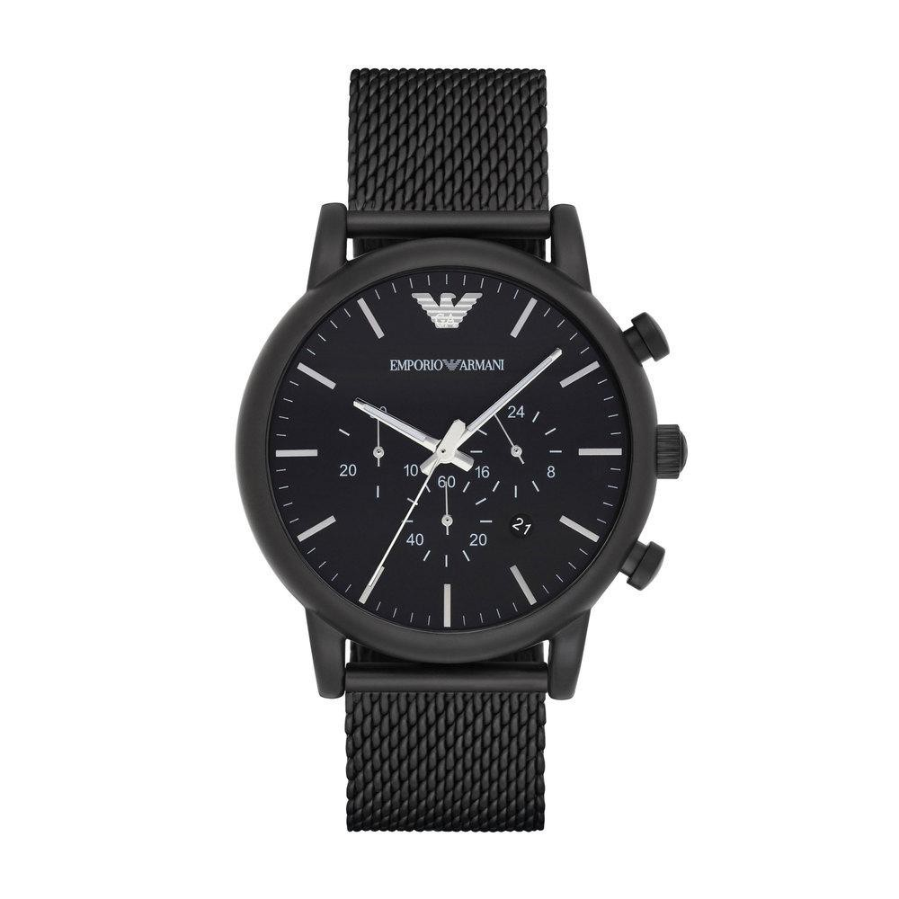 9b421469fa0 Emporio Armani AR5995 Sportivo Leather Chronograph Watch