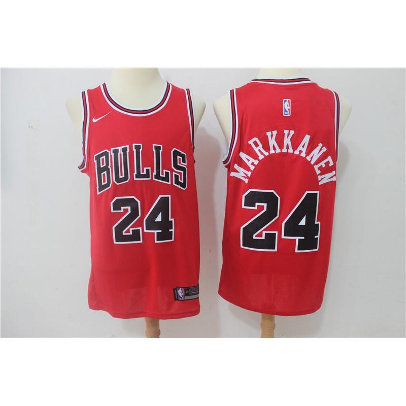 Nike Lauri Markkanen Chicago Bulls  24 Red Stitched NBA Jersey ... 865409462