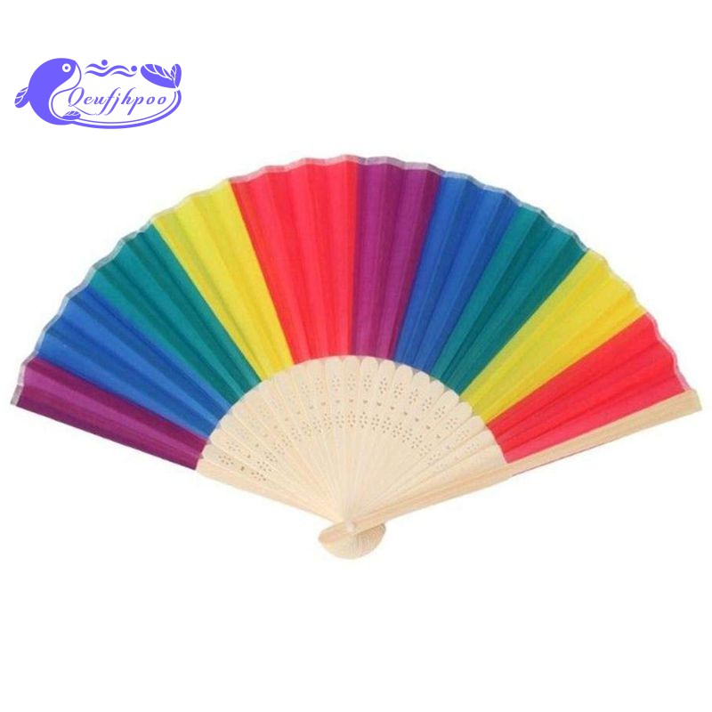 Fashion Vintage Lace Silk Bamboo Hand Fan Chinese//Japanese Handheld Wooden Folding Fan for Wedding Dancing Party Gifts Folding Hand Fan Hot Pink