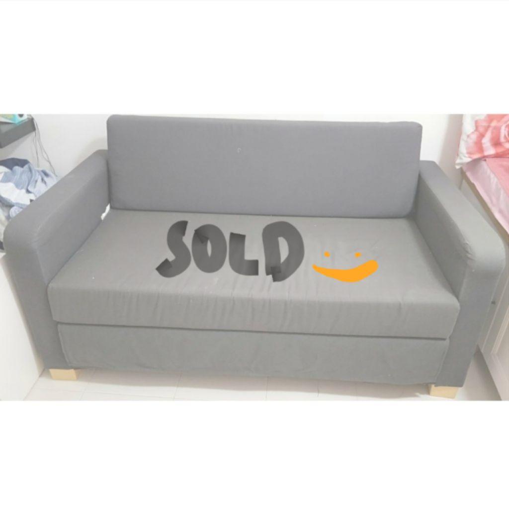 - IKEA Grey Sofa-Bed Shopee Singapore