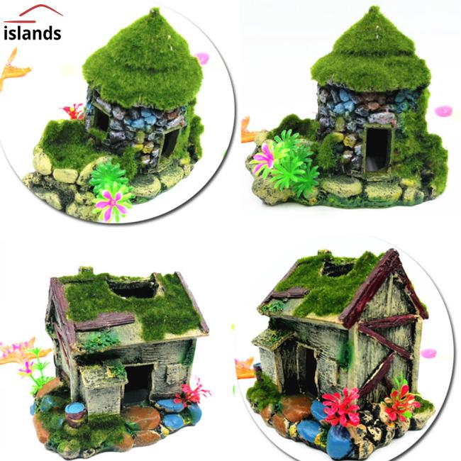 Simulate Moss House Hiding Decoration for Fish Tank Landscaping Aquarium  Decor