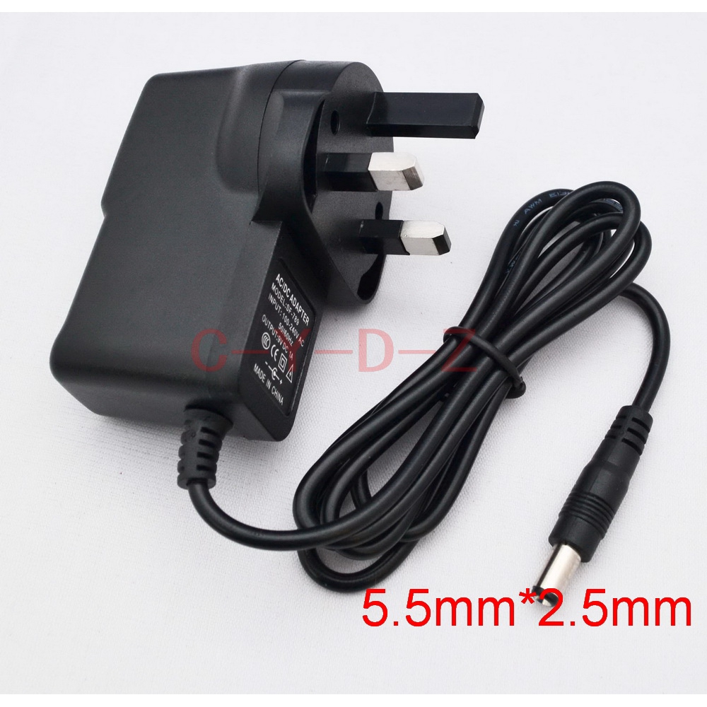 9V 2A DC 5.5mm*2.5mm AC//DC 100V-240V Power Adapter US Plug Supply Charger
