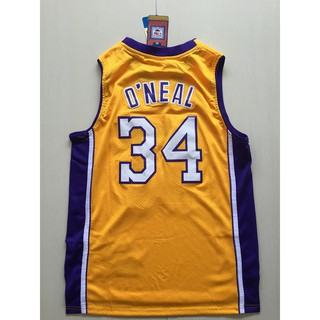new product 5dc0c 07c5f NBA WESTERN basketball jerseys LA. Lakers O'NEAL S-XXL #34 ...
