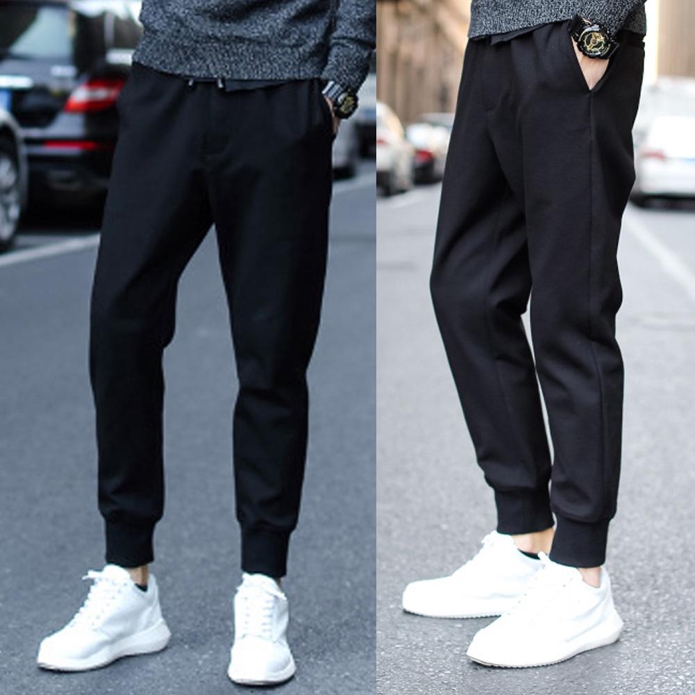 Men Stretch Jogger Slim Fit Trousers Harem Gym Sports Sweatpants Track Pants