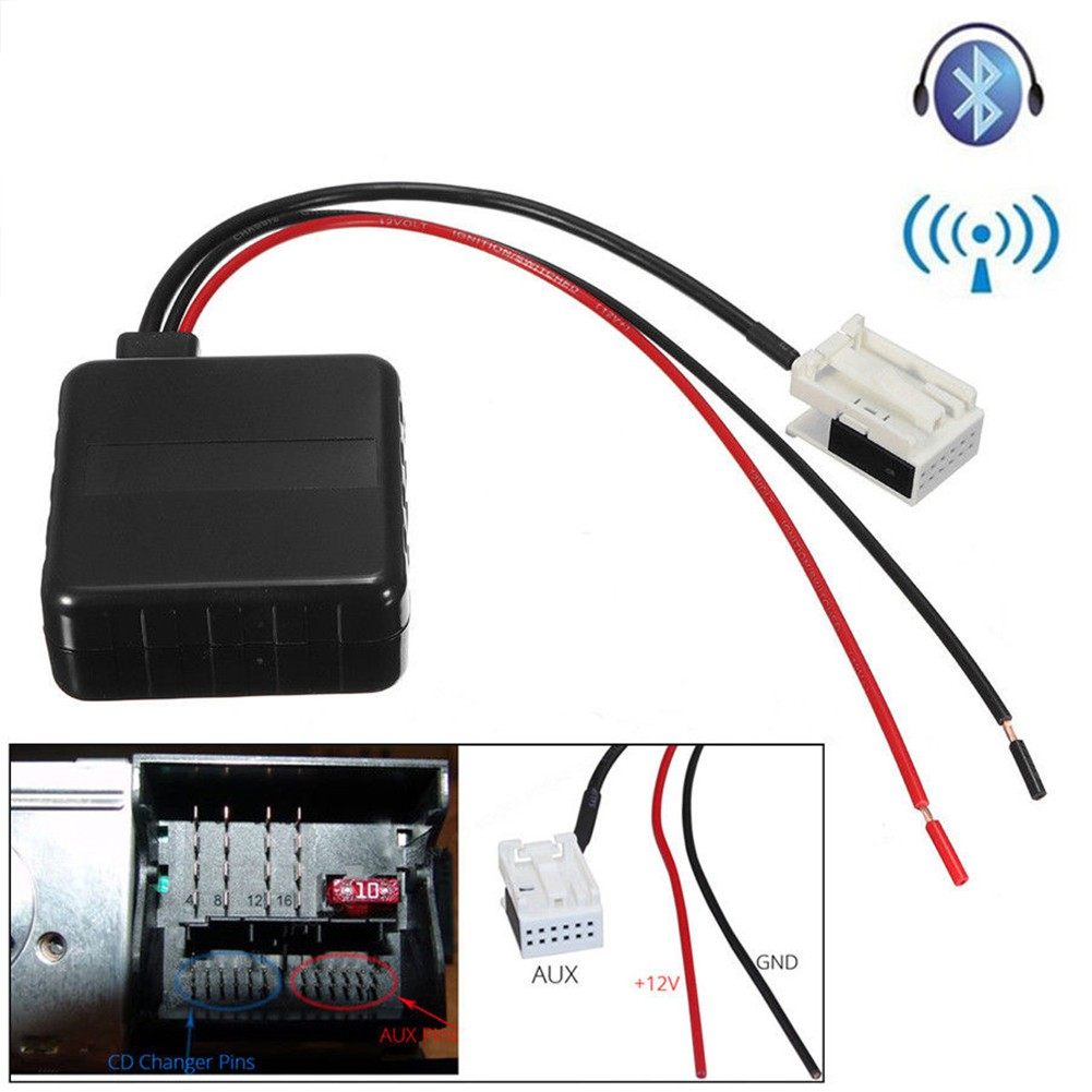 Bluetooth Kit Microphone Harness Mic Cable Adapter For Volkswagen Alpine Cde 9881 Wiring Peugeot Ac876 Shopee Singapore