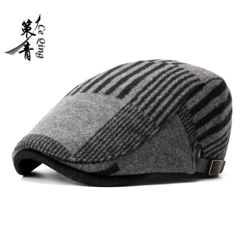 24f26775a798b Woolen Mens Retro Baker Boy NewsBoy Outdoors Golf Hat Beret Flat Cap ...