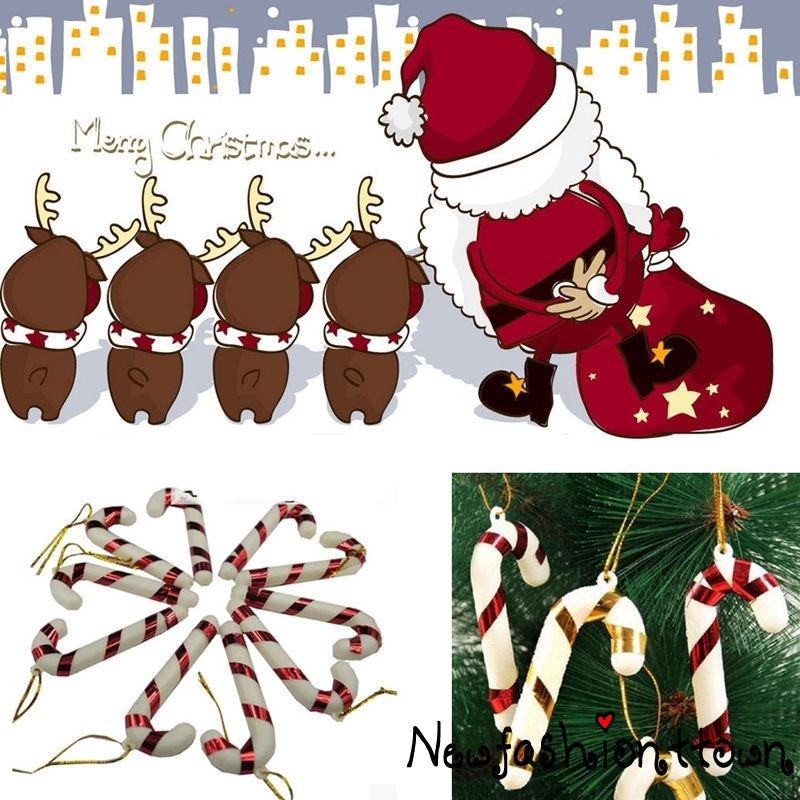 Candy Cane Christmas Tree.ღtwღ6pcs Candy Cane Xmas Tree Hanging Ornament Pendant Decoration Christmas