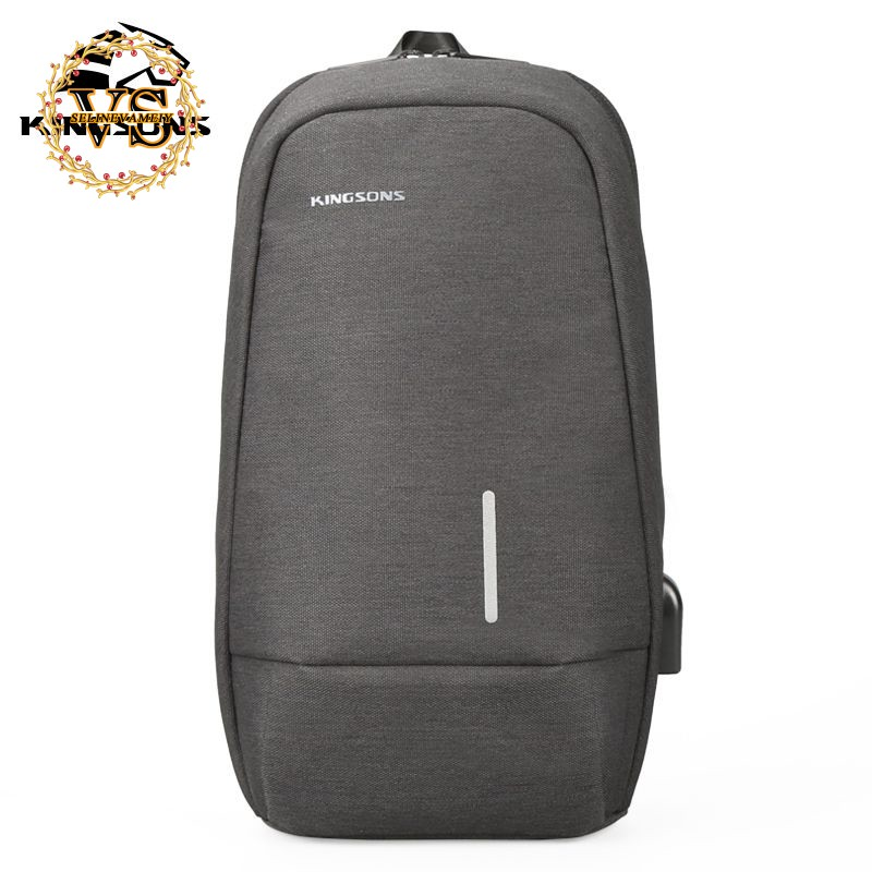 ec891ef5ae71d6 Kingsons Chest Bag Men Crossbody Bag USB Charging Shoulder Bag Bicycle Sling  Bag | Shopee Singapore