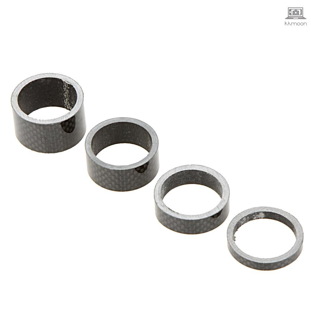 1-1//8 inch 4 pcs of 5mm//10mm//15mm//20mm Headset Spacers Carbon spacer Stem Spacer