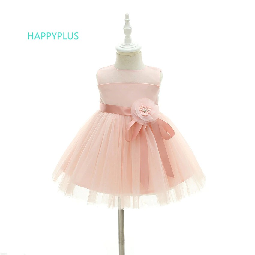 ac4f0644ae939 Wholesale Pink Infant Dresses for Baby Girls 1 Year Floral Baby Girl Dress