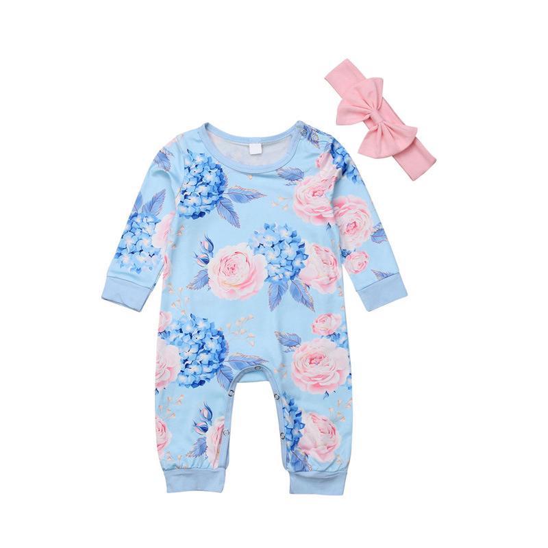 50578343281a Newborn Infant Kid Baby Girl Bodysuit Romper Jumpsuit Outfit Clothes Set