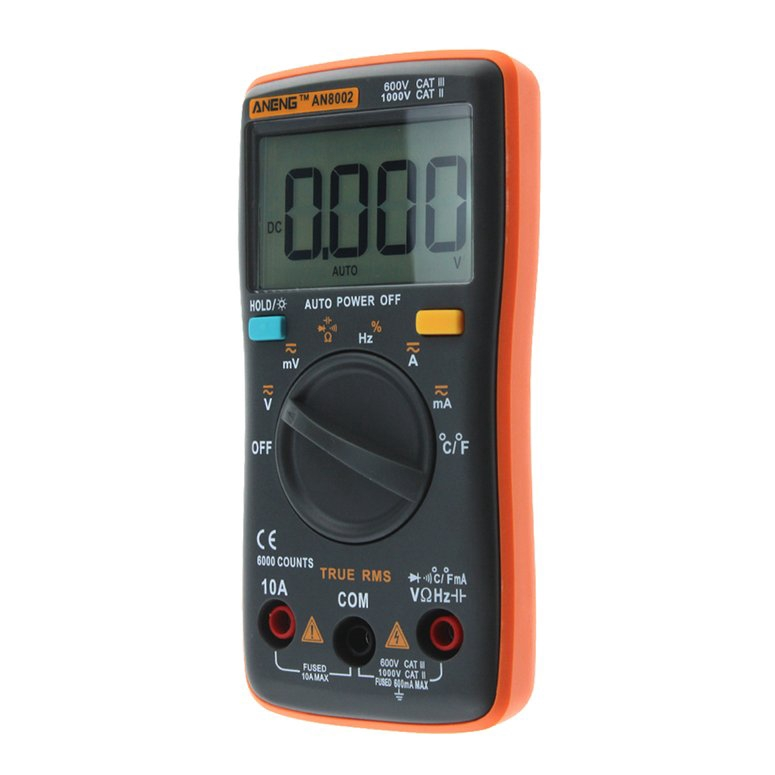 ANENG AN8002 Digital Multimeter AC//DC Voltage Ohm Current Meter 6000 Counts New