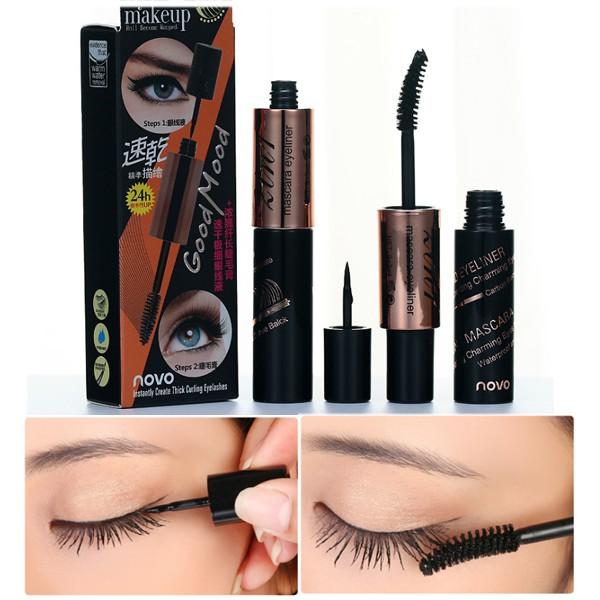 174fa7b46954 Double eyeliner&Mascara Waterproof Liquid Eye Liner Pencil Pen Make Up  Cosmetics