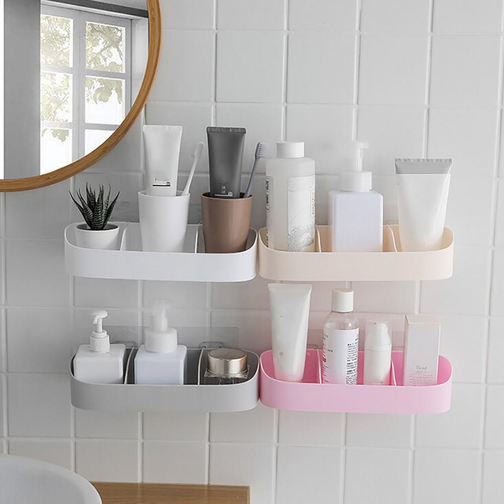 Plastic Bathroom Kitchen Corner Storage Rack Organizer Shower Shelf