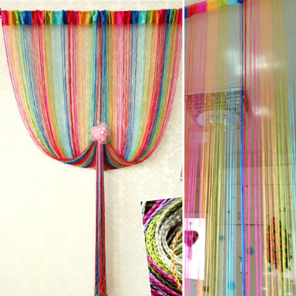 Home String Line Curtain Divider Valance Curtain