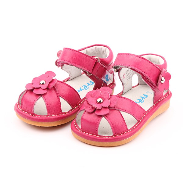 Freycoo - Coral Kayla Squeaky Toddler Shoes