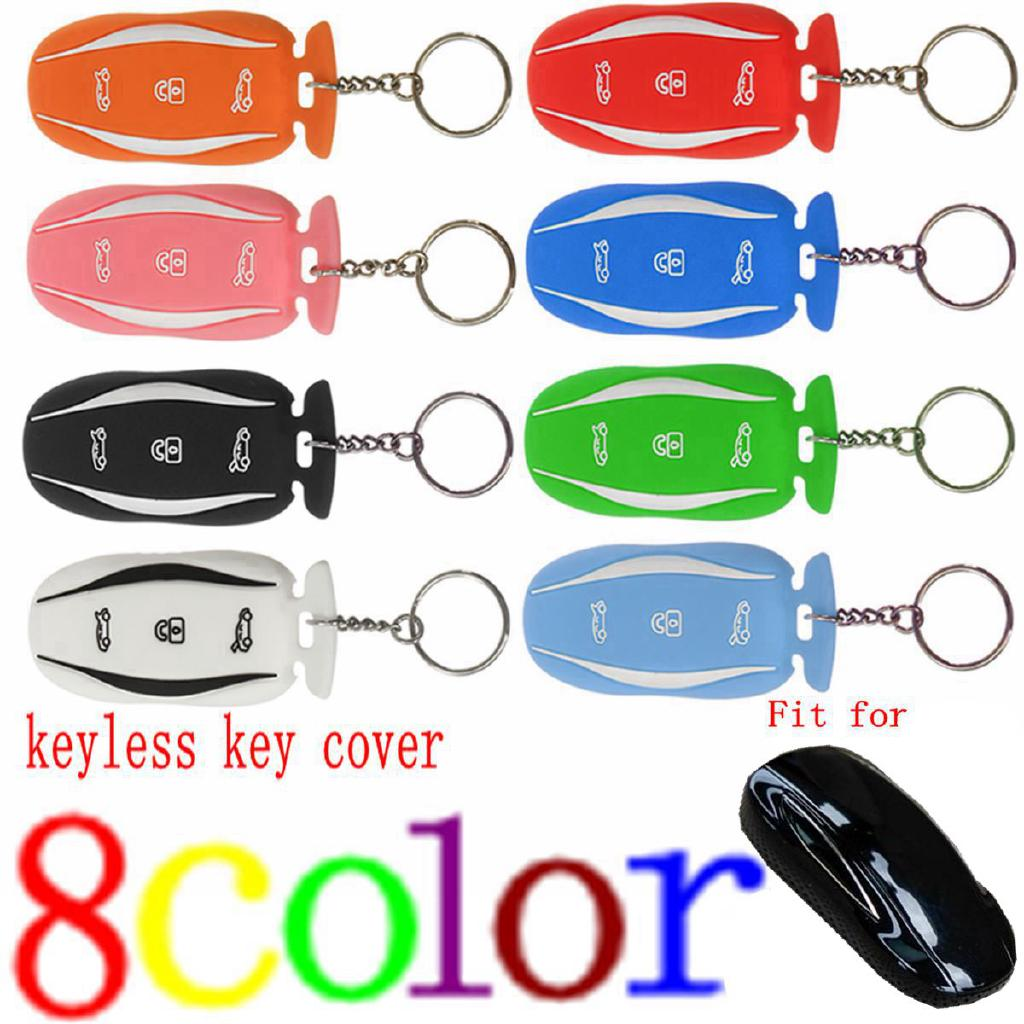 Silicone Rubber Key Fob Protector Cover Case Fit For Tesla Model S X Remote Key