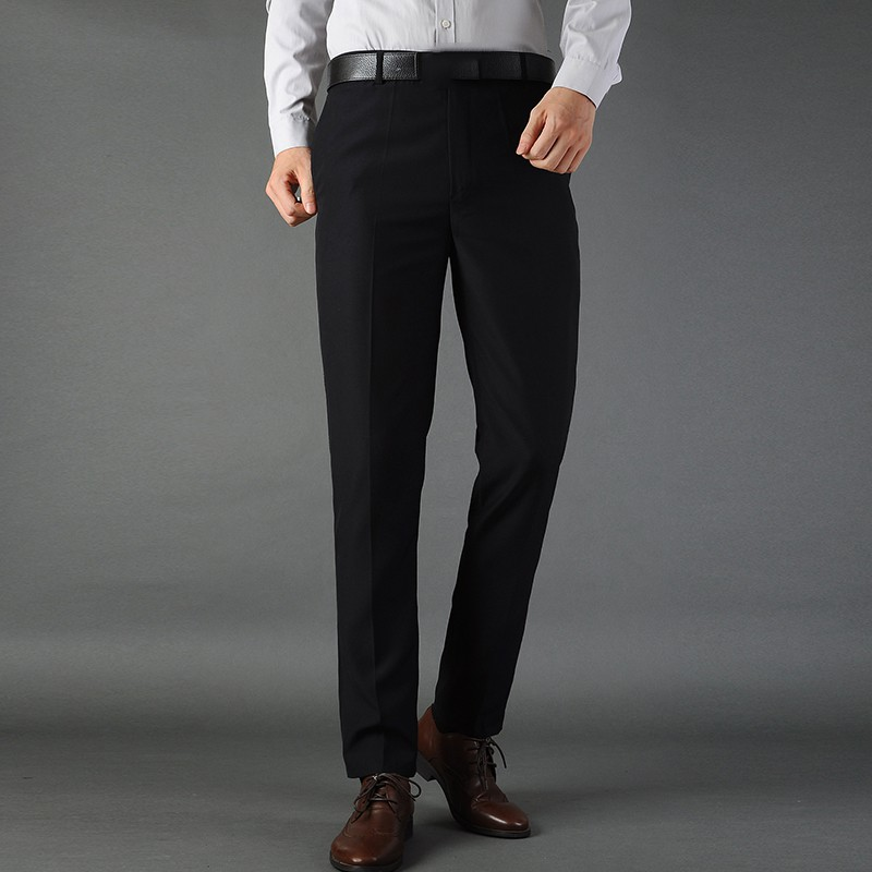 Mens Solid Slim Fit Cropped Ninth Pants Formal Dress Business Suit Trousers new