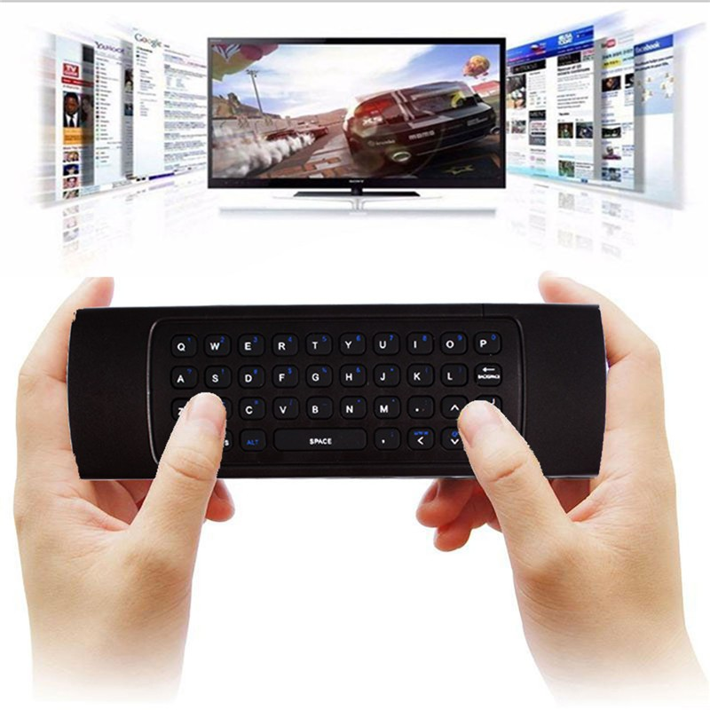 2 4Ghz Air Mouse Wireless Qwerty Keyboard IR Remote for Android TV BOX