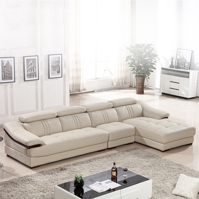 Leather Sofa Modern Simple Size