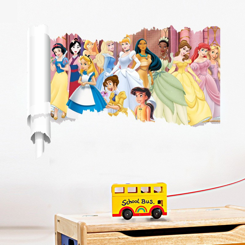 DISNEY PRINCESS SNOW WHITE WALL STICKER KIDS ROOM NURSERY HOME DECOR ART MURAL