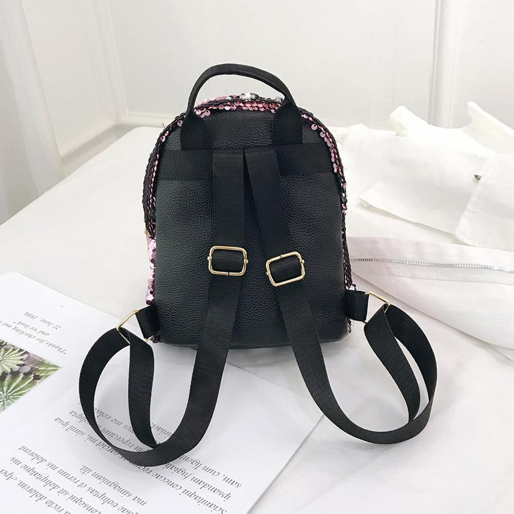 c137b6ec42f2 Cute Women Rabbit Sequins Backpacks Girls Bling Travel Shoulder ...