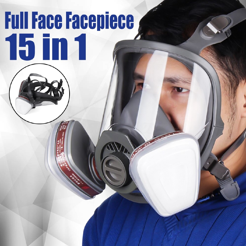 Party Masks Event & Party For 6800 Gas Mask Full Face Facepiece Respirator 7pcs Kit Painting Spraying Mask Grey Cleaning The Oral Cavity.