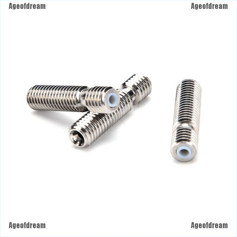 Ageofdream M6x26 Stainless Steel Nozzle Throat Fr Reprap 3D Printer  Extruder End 1 75mm