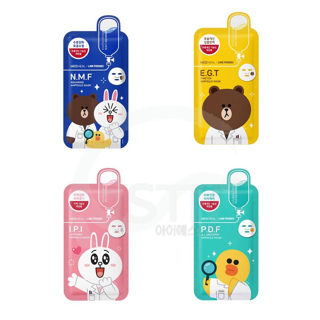 [1+1] Mediheal Line Friends Ampoule Mask Series | Shopee Singapore