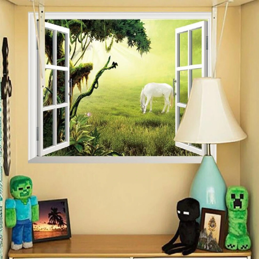 3D Wall Stickers Wallpaper Window Stickers Living Room Fice Decoration