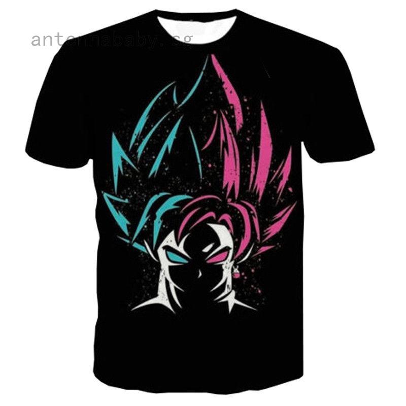 Newest Women Men 3D Print T-shirt Dragon Ball Z Roaring Goku Cartoon Tee Shirts