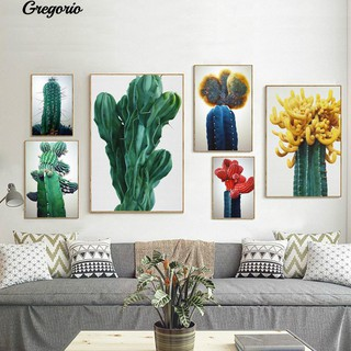 Grego Nordic Cactus Plant Canvas Painting Poster Wall Picture