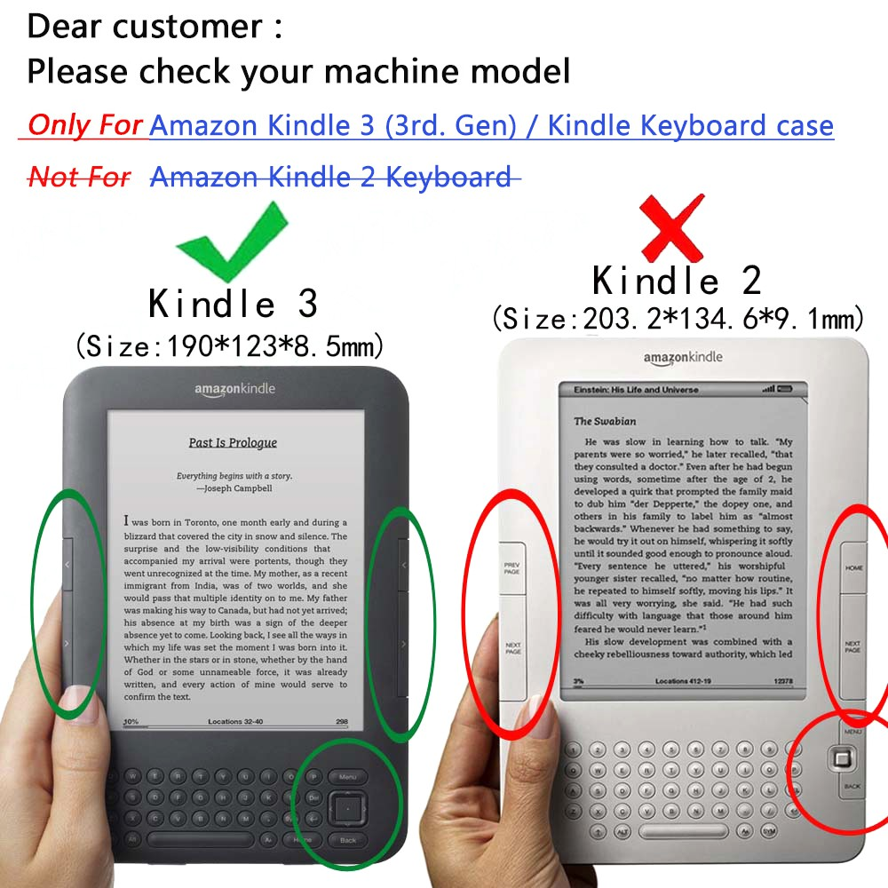 Amazon Kindle Keyboard 3rd Gen 2012 (Model:D00901) Ereader