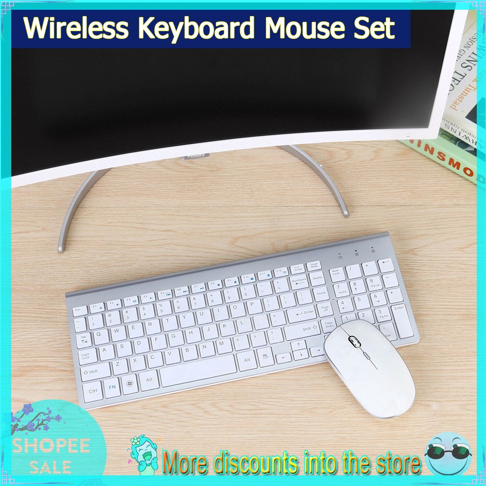 2.4G Mini Usb Keyboard With Silent Mouse Combo For Laptop//Desktop//Table And Pc,