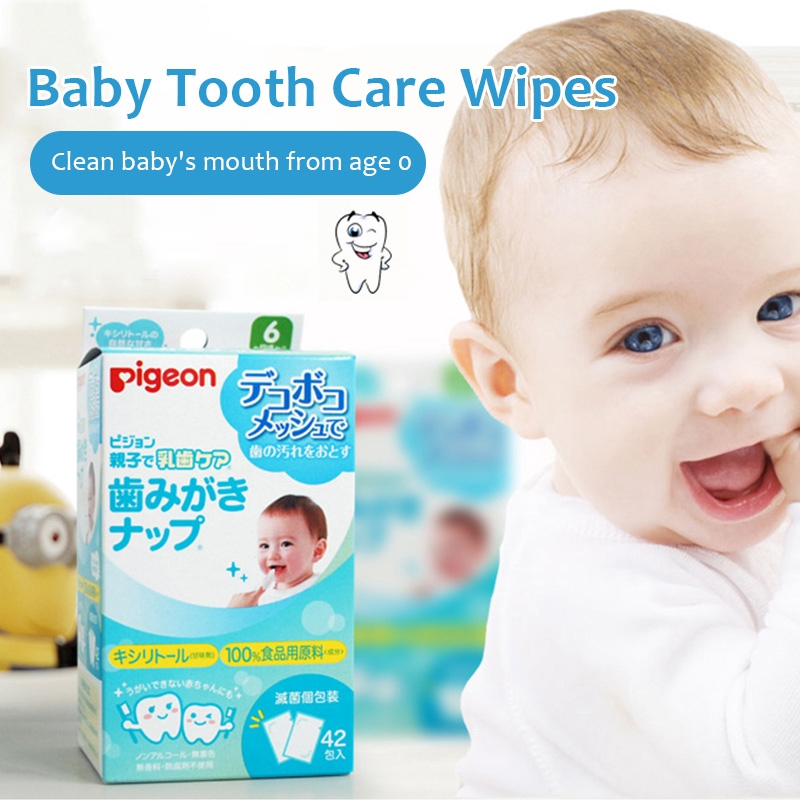 Pigeon 42pcs/Pack Baby Tooth Care Wipes infant Tooth Wipes ...