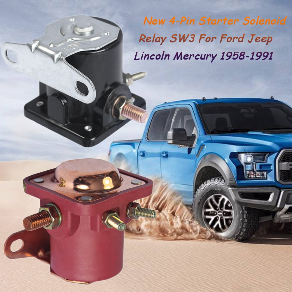 NEW STARTER SOLENOID RELAY SW3 Ford Jeep Lincoln Mercury 1958-1991