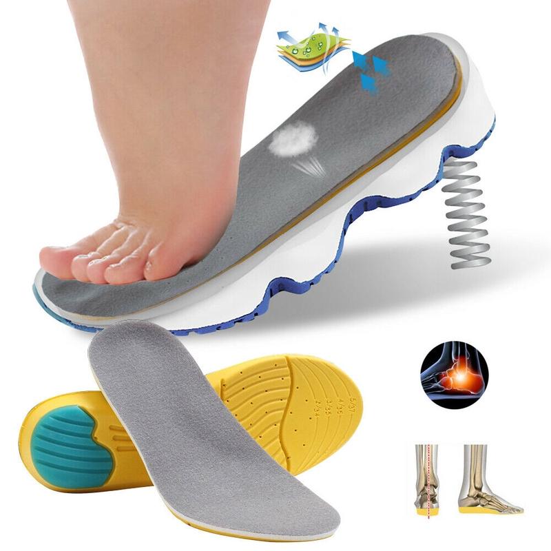 Unisex Super Memory Foam Orthotic Arch Insert Insoles Shoe Pads Cushion Sport EN