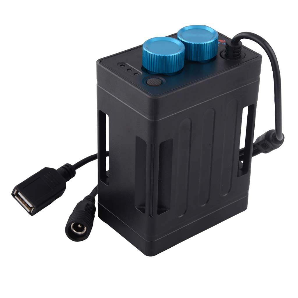 8.4V DC USB 5V 6x 18650 Battery Storage Case Box For Bike LED Light Lamp Phone