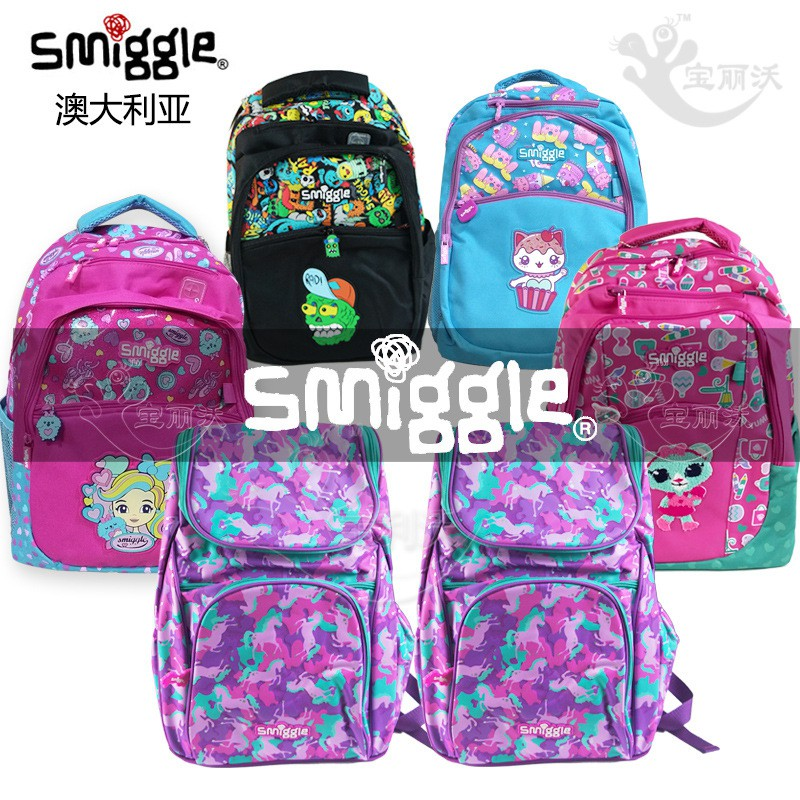 Australia smiggle male and female students large backpack outdoor travel compute