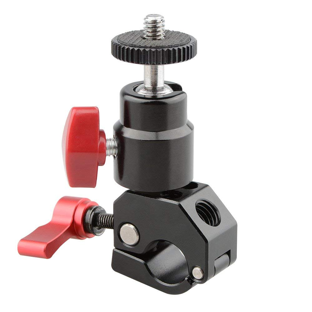 Red CAMVATE 15mm Rod Clamp Single with 1//4 Threaded Hole for Camera DIY Accessories