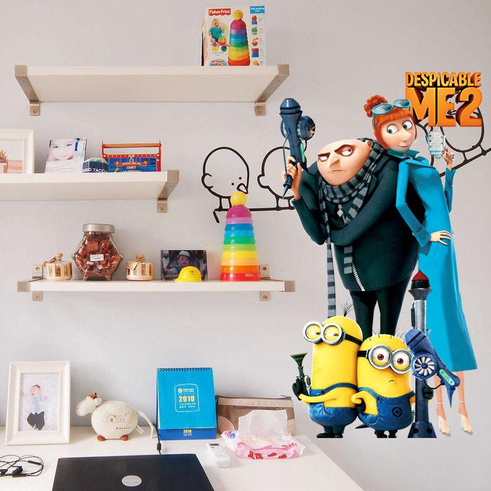 Despicable Me 2 Minions Removable Wall Stickers Children