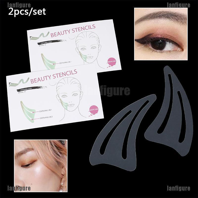 2pcs Set Contour Makeup Template Face