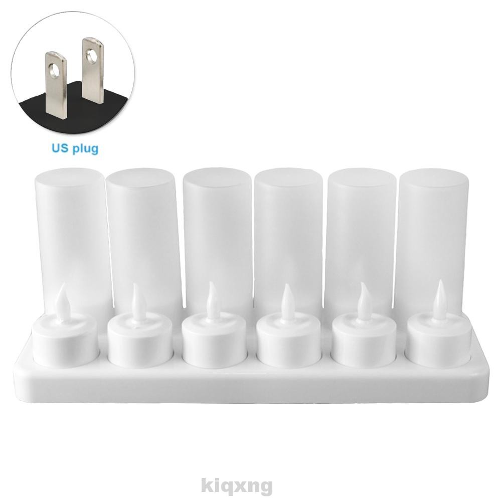 12pcs Rechargeable Base Flameless Candle Electric Flickering Battery Operated Desktop Wedding Led Tea Lights Shopee Singapore